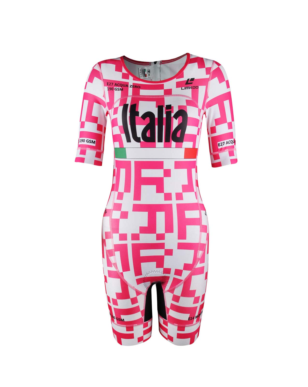 Italian ACQUA ZERO Short Sleeve Tri Suit