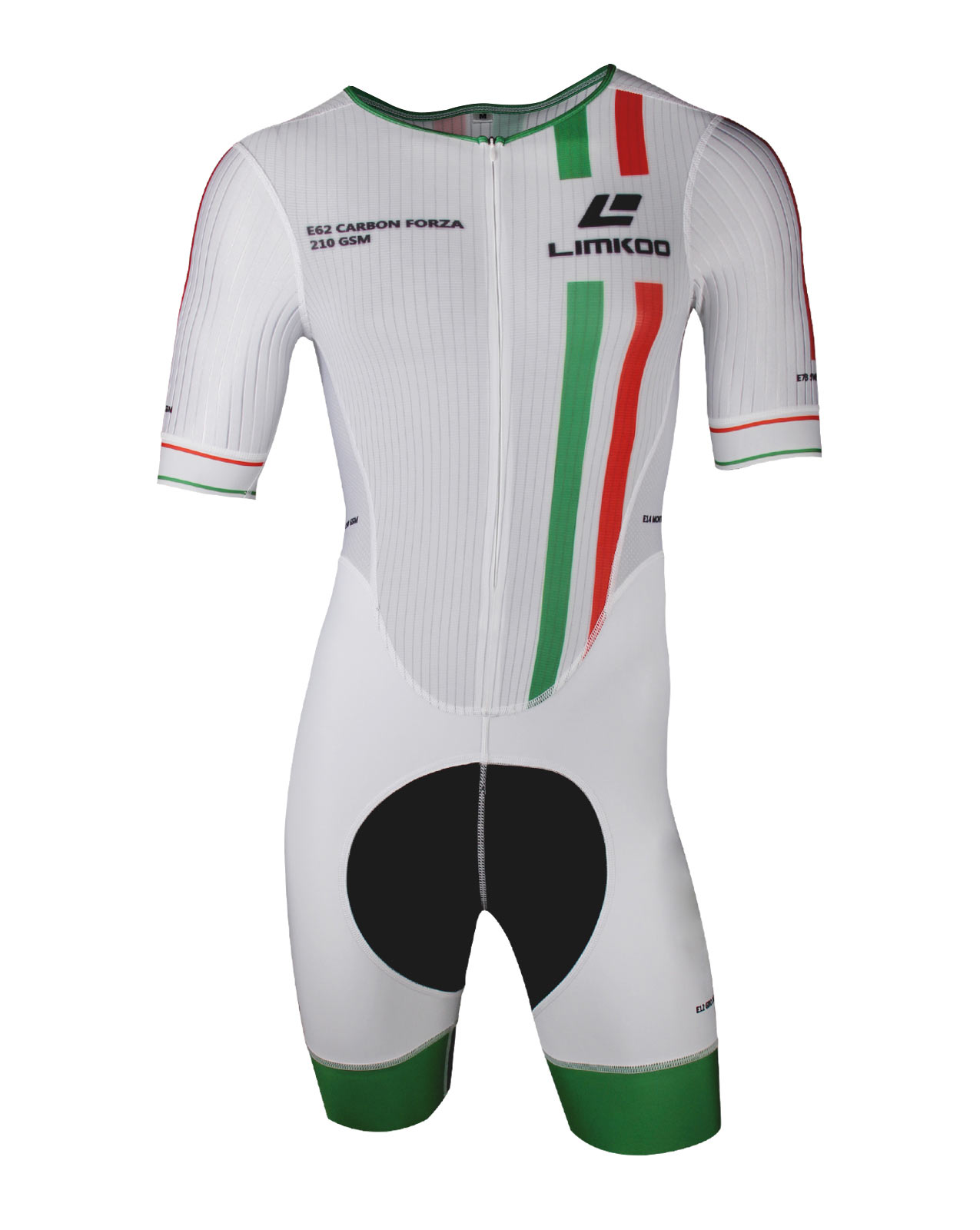 Italian CARBON FORZA Short Sleeve Cycling Skinsuit