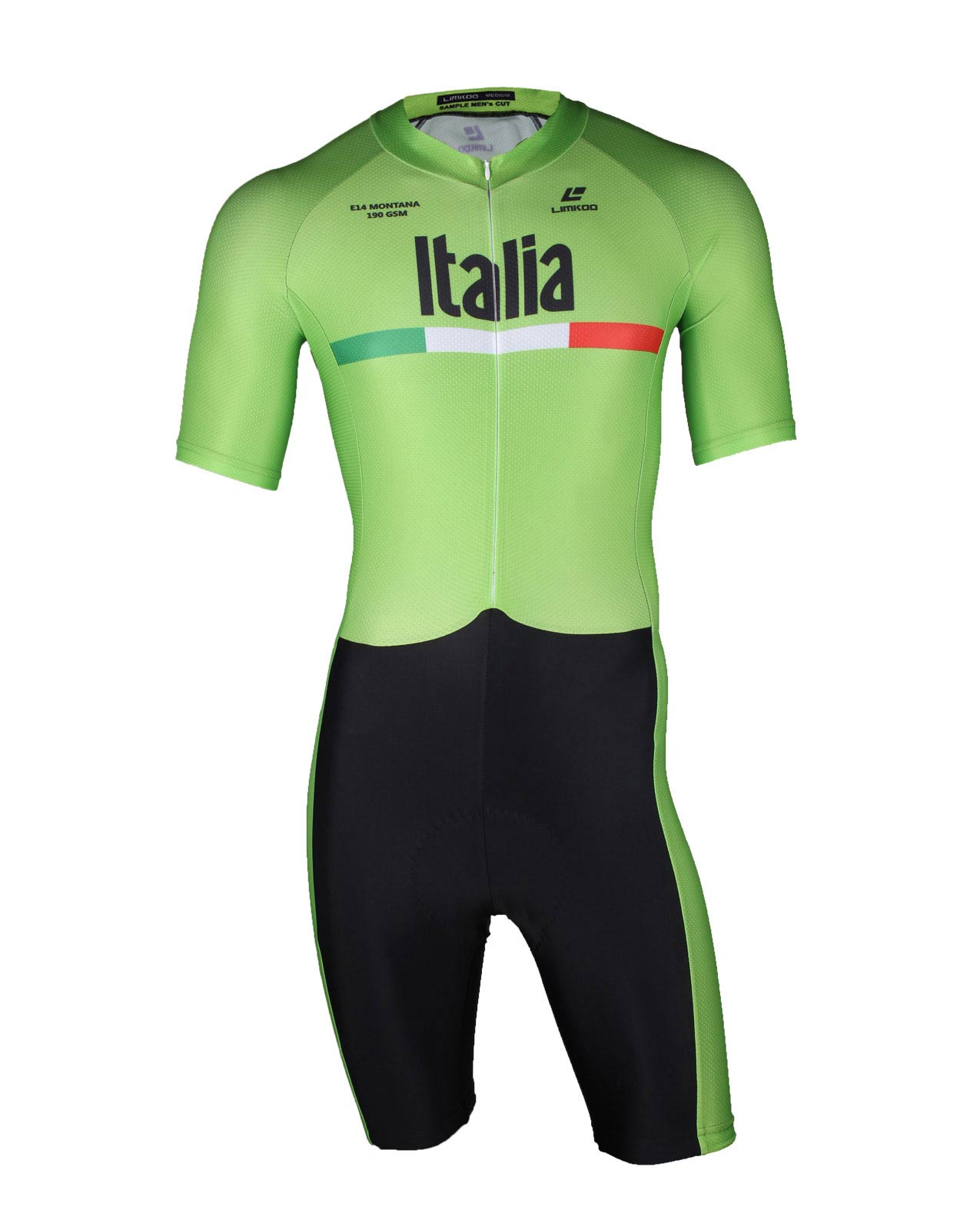 Italian MONTANA  Short Sleeve Cycling Skinsuit